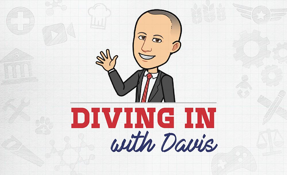 Diving in with Davis graphic